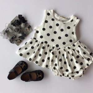 28-58-Dot Dress Shorts 2pcs