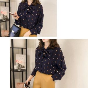 88-341-Polka dot long sleeves