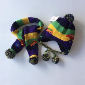 77-128-Cars hat scarf 2pcs