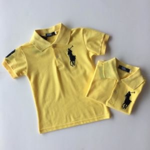 56-144-Collar Polo T-Shirt-Yellow
