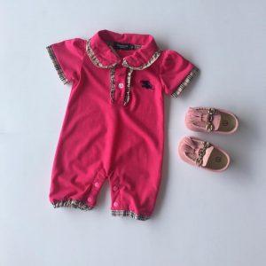 28-68-BURRERY Romper Rose pink