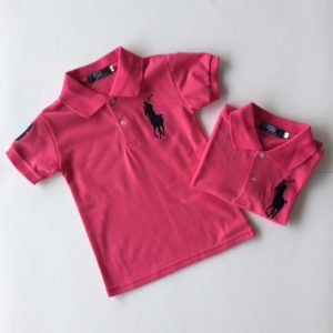 56-142-Collar Polo T-Shirt-Pink