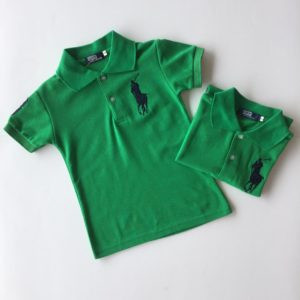 56-143-Collar Polo T-Shirt-Green